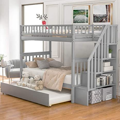Harper-Bright-Designs-Wooden-Low-Bunk-Bed-1