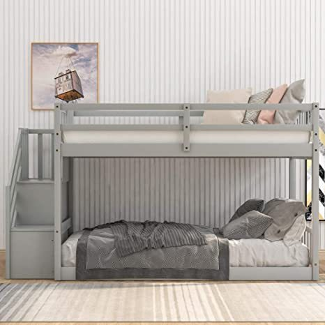 Harper-Bright-Designs-Wooden-Low-Bunk-Bed-2
