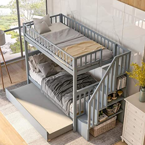 Harper-Bright-Designs-Wooden-Low-Bunk-Bed-3
