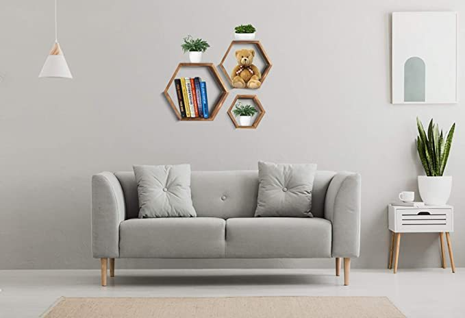 Hexagon-Wall-Decor-Floating-Shelves-4