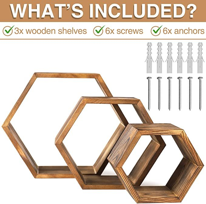 Hexagon-Wall-Decor-Floating-Shelves-5