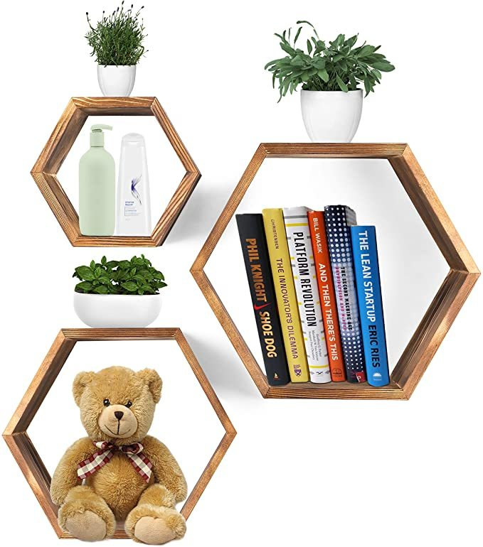 Hexagon-Wall-Decor-Floating-Shelves-6