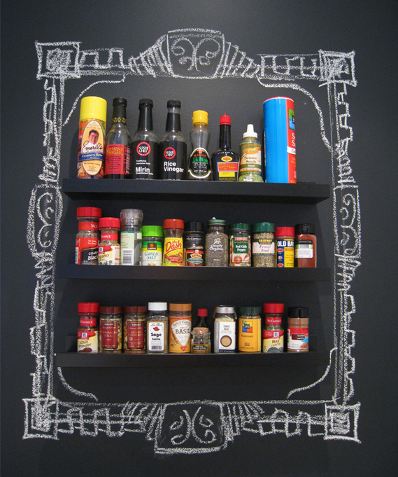 chalkboard-paint-idea-kitchen-spice-rack-fun-innovative-use-colorful-display-inspiration-diy-makeover