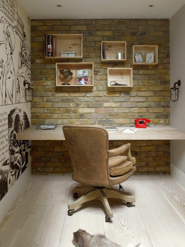 transitionalhomeofficebrickwalldesign