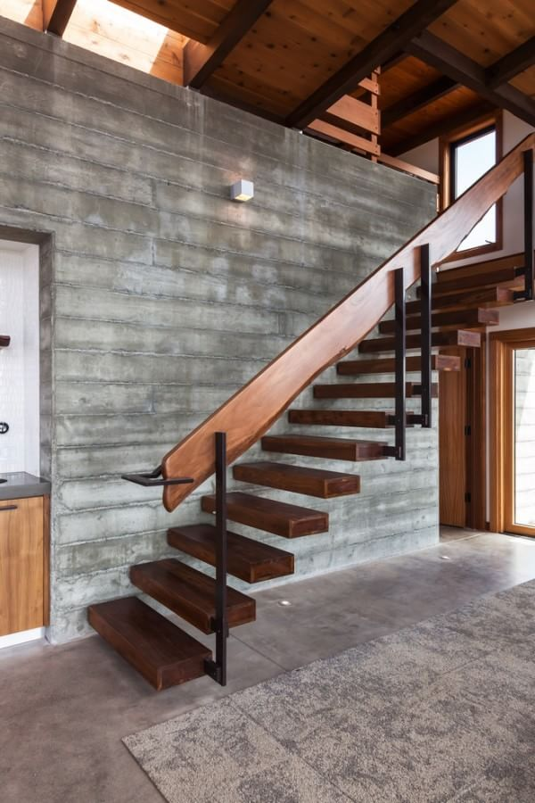 Marvelous Contemporary Wooden Staircase
