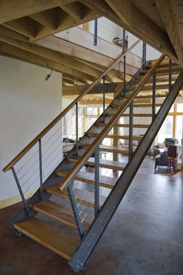 wooden-industrial-staircase
