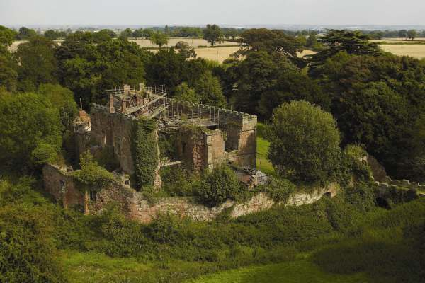 Astley Castle - Aerial - high res