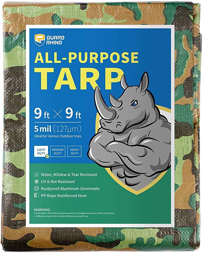 Top 10 Camo tarps - GUARD RHINO Camouflage Tarp 9x9
