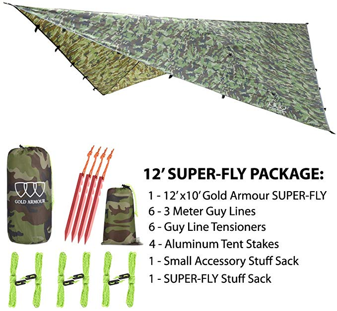 Gold Armour 12ft Extra Large Tarp Hammock_2